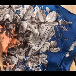 Yves Saint Laurent Accessories - Yves Saint Laurent Vintage Silk Scarf